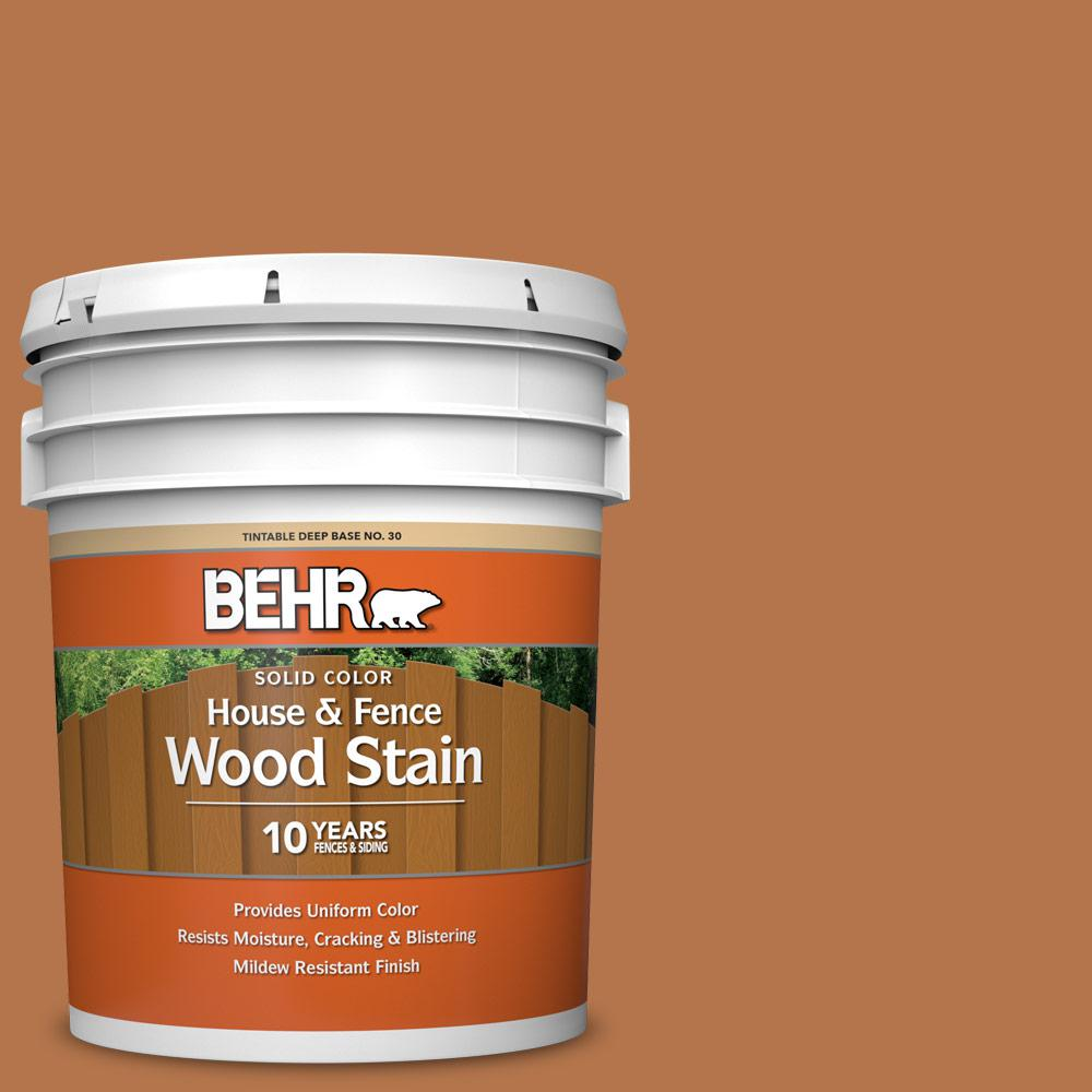 BEHR 5 gal. #SC-533 Cedar Naturaltone Solid Color House and Fence Exterior Wood Stain