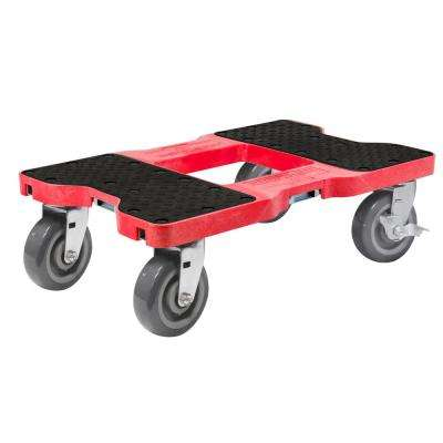 1800 lbs. Capacity Super-Duty Professional E-Track Dolly in Red