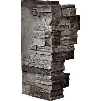 1-1/2 in. x 12 in. x 25 in. Slate Urethane Dry Stack Stone Outer Corner Wall Panel