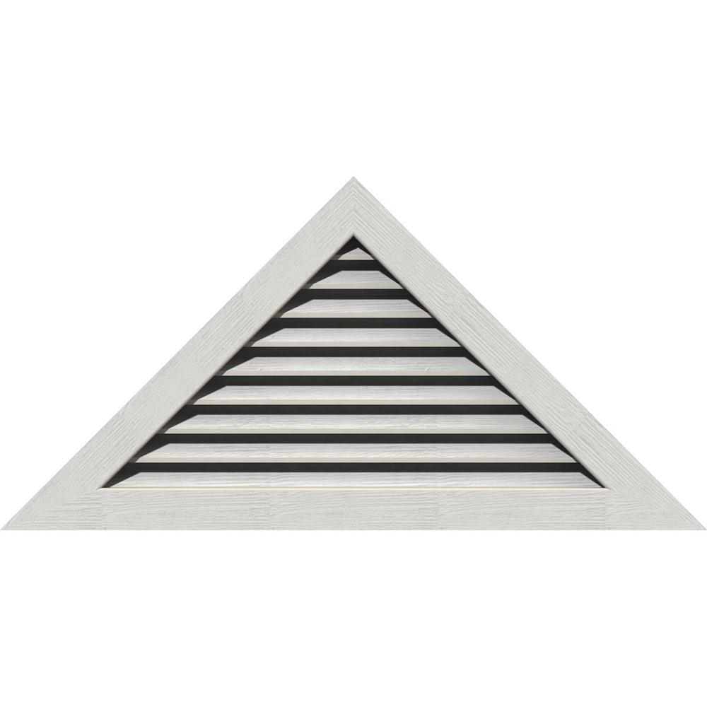 Ekena Millwork 71 125 X 26 625 Triangle Primed Rough Sawn Western Red Cedar Wood Gable Louver Vent Functional Gvwtr56x2100rfpwr The Home Depot