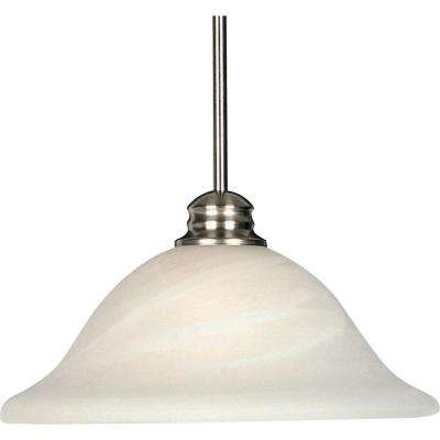 Essentials Satin Nickel 9106x-Single Pendant