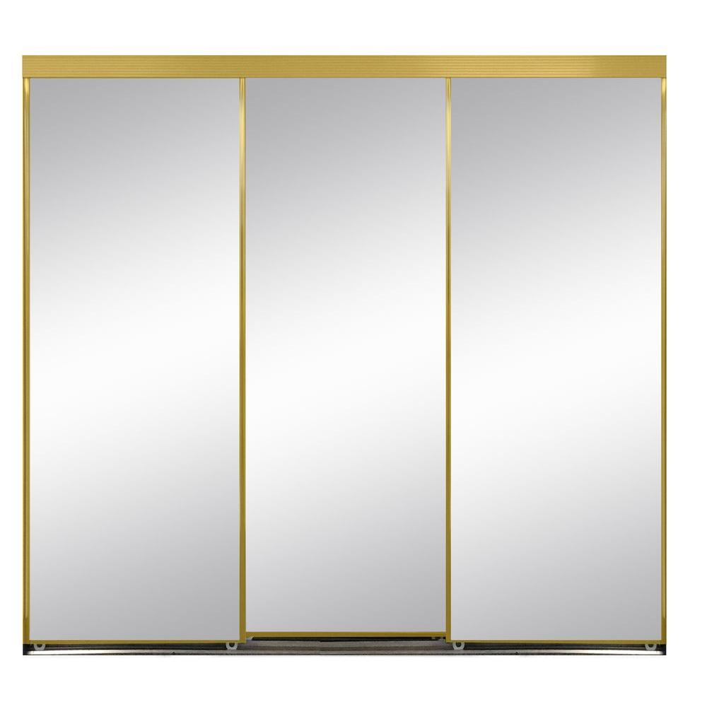 108 in. x 80 in. Polished Edge Mirror Framed with Gasket  sc 1 st  The Home Depot & Sliding Doors - Interior u0026 Closet Doors - The Home Depot