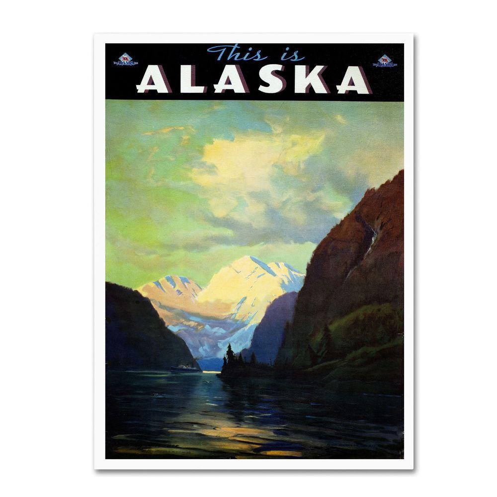 Trademark Fine Art 24 In X 16 In Trav Alaska Canvas Art
