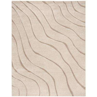 Florida Shag Cream/Beige 8 ft. 6 in. x 12 ft. Area Rug