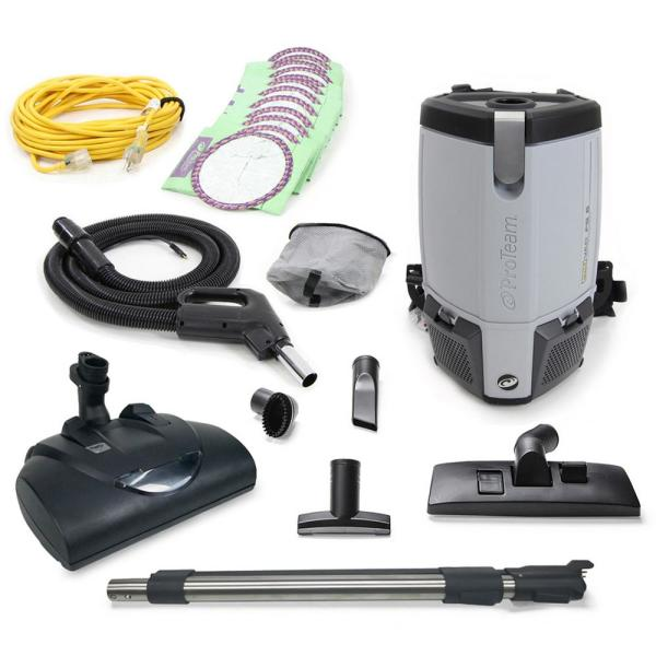 ProVac FS 6 Qt. Commercial Backpack Vacuum with Wessel Werk Head