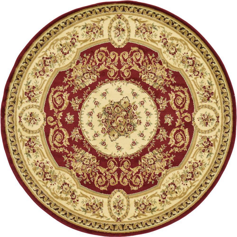 Versailles Phillipe Red 6' 0 x 6' 0 Round Rug