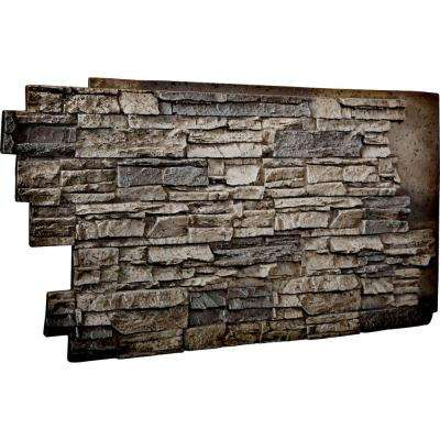 1-1/2 in. x 48 in. x 25 in. Platinum Urethane Stacked Stone Wall Panel