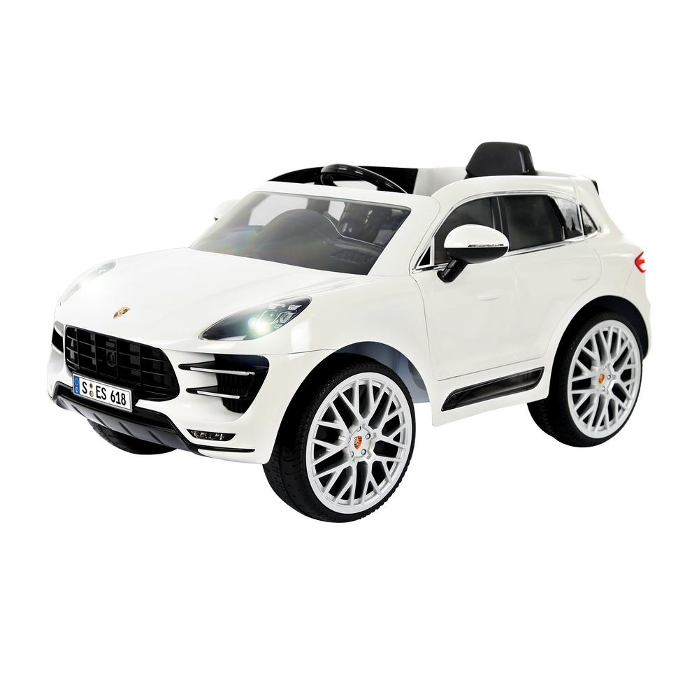 Porsche Macan 6 Volt Battery Ride On Vehicle In White W416ac The Home Depot
