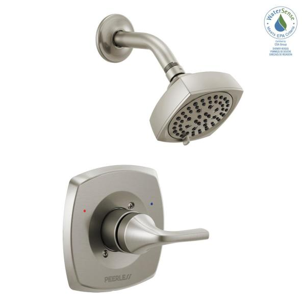 Parkwood 1-Handle Wall-Mount Shower Faucet Trim Kit in Brushed Nickel (Valve not Included)