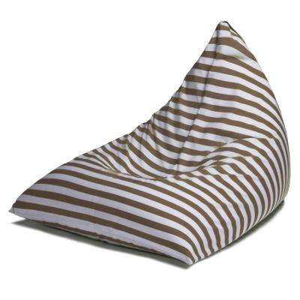 Twist Taupe Stripes Outdoor Bean Bag Chair