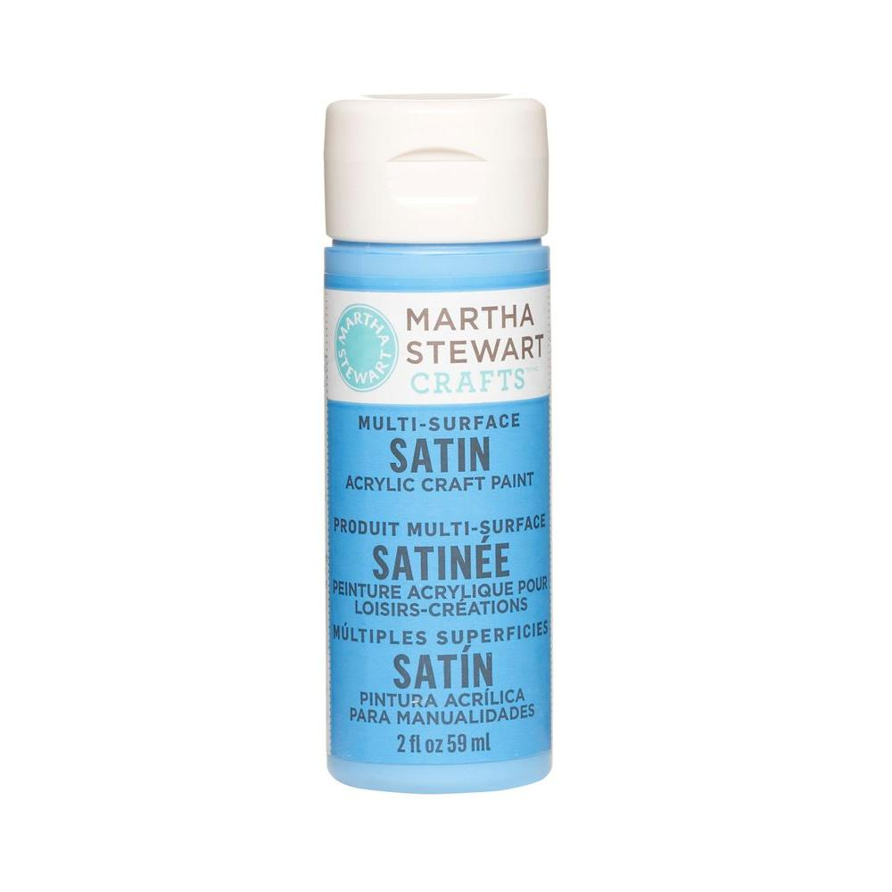 Martha Stewart Crafts 2-oz. Blue Calico Multi-Surface Satin Acrylic Craft Paint