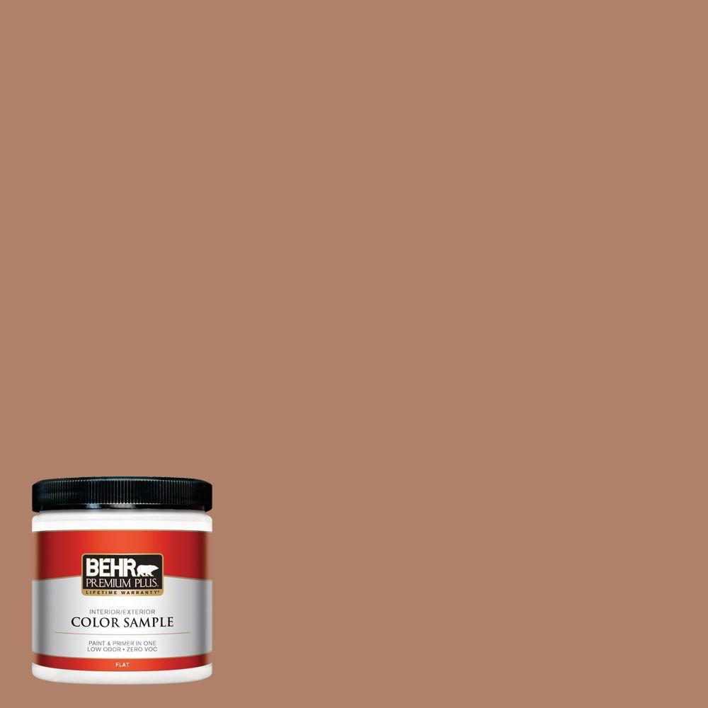 BEHR Premium Plus 8 oz. #S210-5 Cider Spice Interior/Exterior Paint Sample