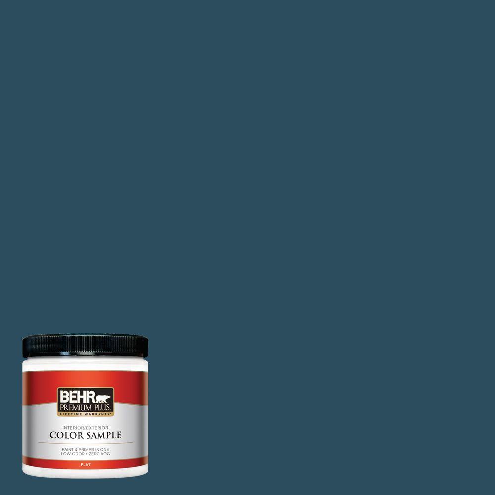 BEHR Premium Plus 8 oz. #540F-7 Velvet Evening Flat Interior/Exterior Paint and Primer in One Sample