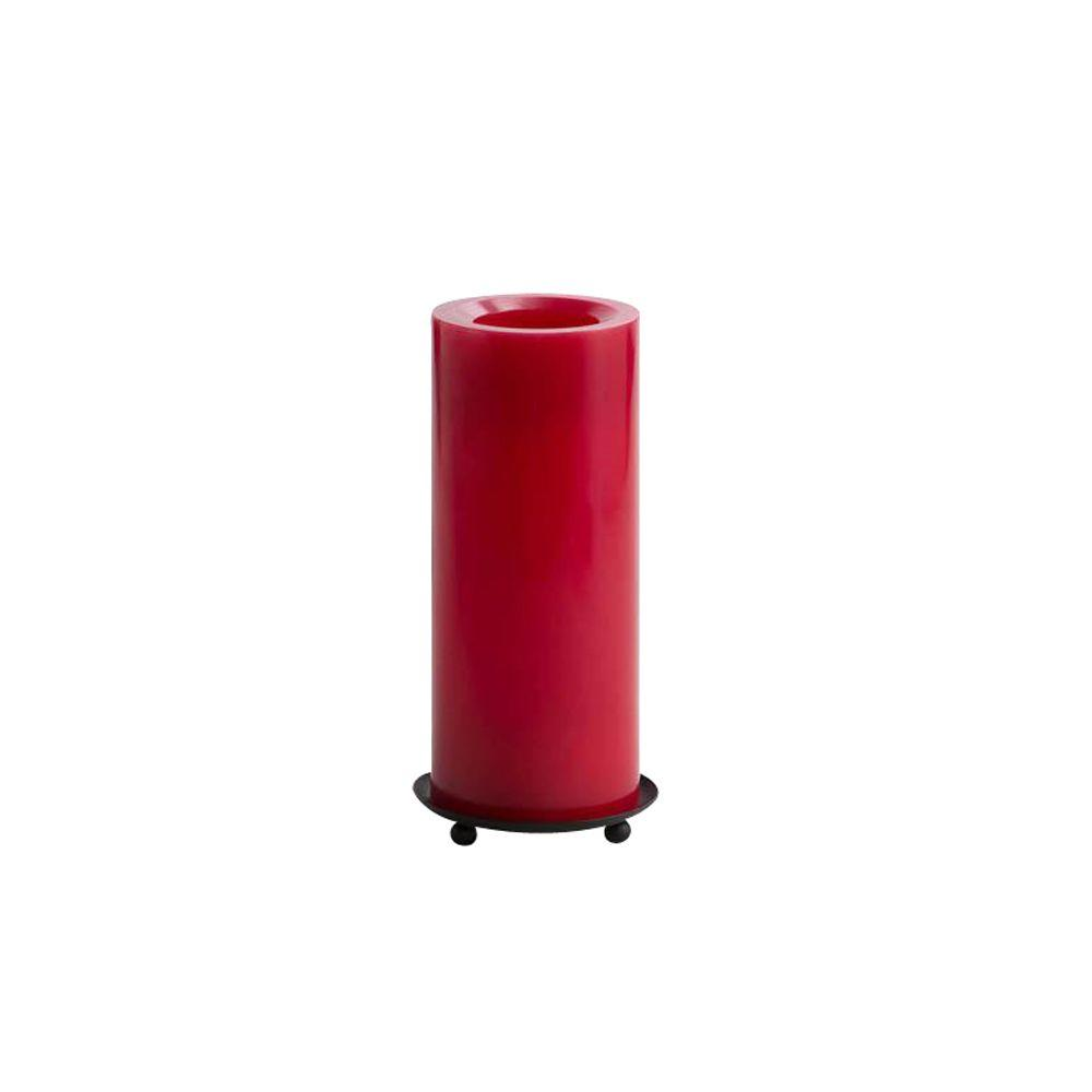 Home Decorators Collection Smooth Red 8 in. H Flameless Pillar Candle