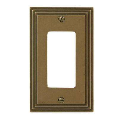 Steps 1-Gang Decora Wall Plate - Rustic Brass