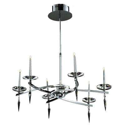 Classic island silver chandeliers lighting the home depot xavier 6 light silver chandelier aloadofball Choice Image