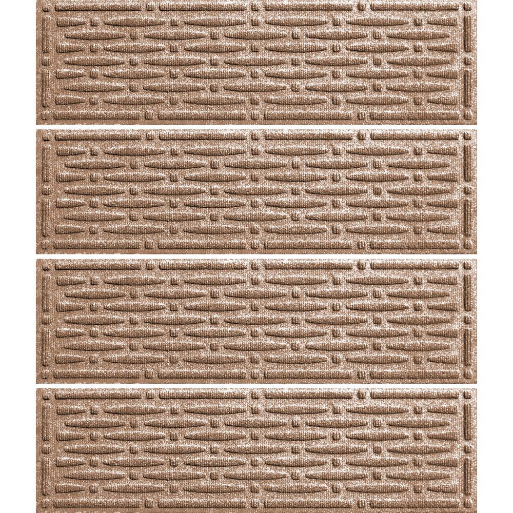 Medium Brown 8.5 in. x 30 in. Mesh Stair Tread Cover (Set of 4)