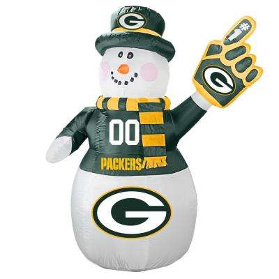 7 ft. Green Bay Packers Inflatable Snowman