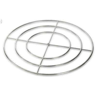 48 in. Triple-Ring 304. Stainless Steel Fire Pit Ring Burner, 3/4 in. Inlet