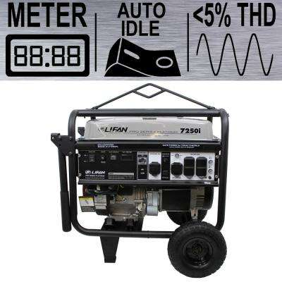 Platinum Series 7,250-Watt 388cc 13 MHP Gasoline Powered THD Clean Sine Wave Power Portable Generator