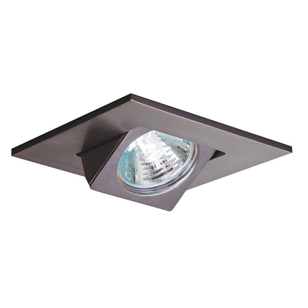 3 in. Tuscan Bronze Recessed Ceiling Light Square Adjustable Eyeball Trim