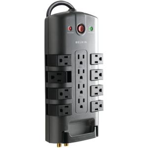 Pivot Plug Surge Protector, 12 Outlets, 8 ft. Cord