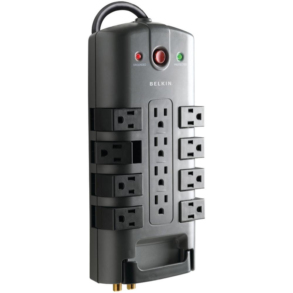 Pivot Plug Surge Protector, 12 Outlets, 8 ft. Cord