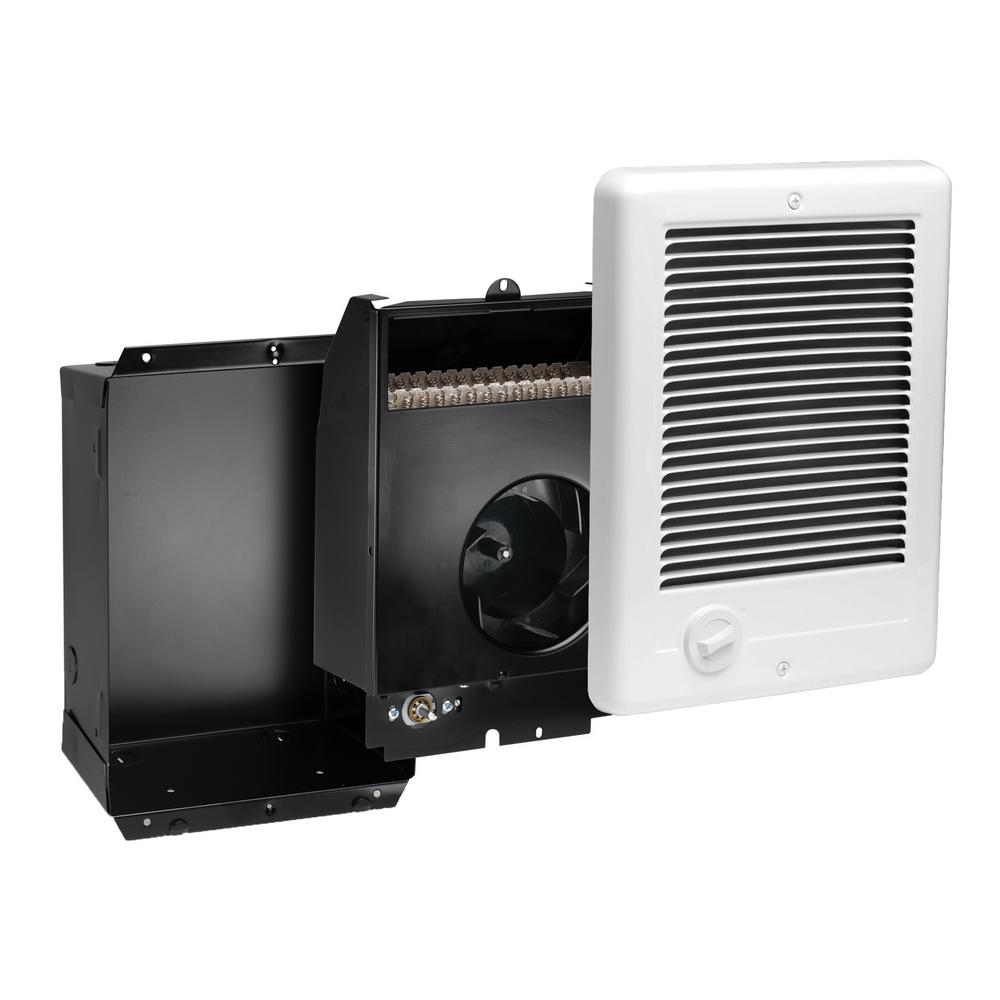 Cadet Com-Pak Plus 9 in. x 12 in. 1500-Watt 120-Volt Fan-Forced In-Wall Electric Heater in White
