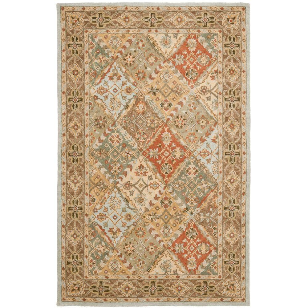 Safavieh Heritage Light Blue/Light Brown 5 ft. x 8 ft. Area Rug