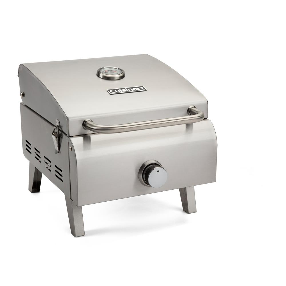 Genial Cuisinart Professional Portable Propane Gas Grill In Stainless Steel