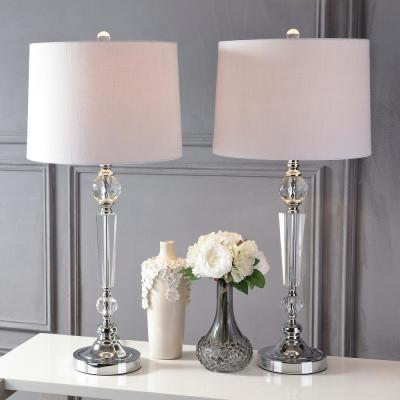 Emma 29.5 in. Clear Crystal Table Lamp (Set of 2)