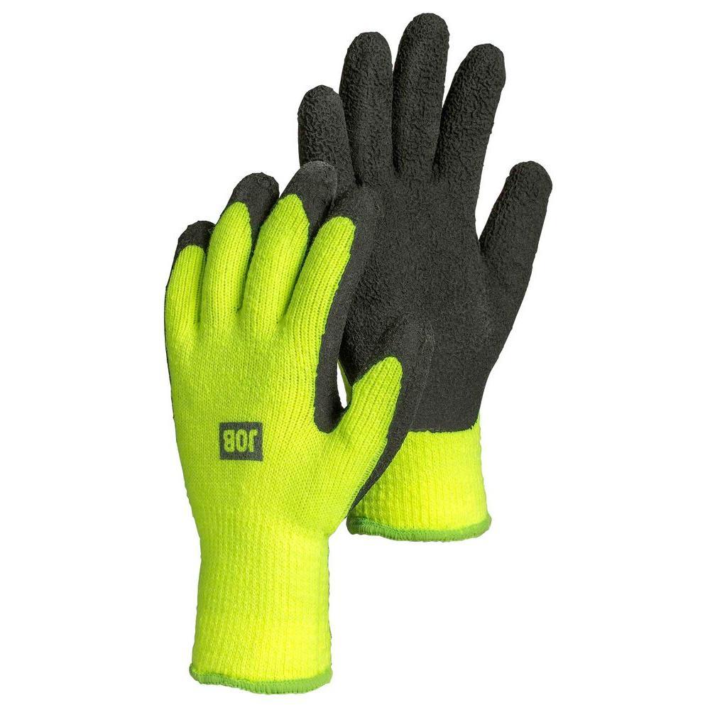 Medium Size 8 Fleece-Lined Latex Dipped Work Gloves
