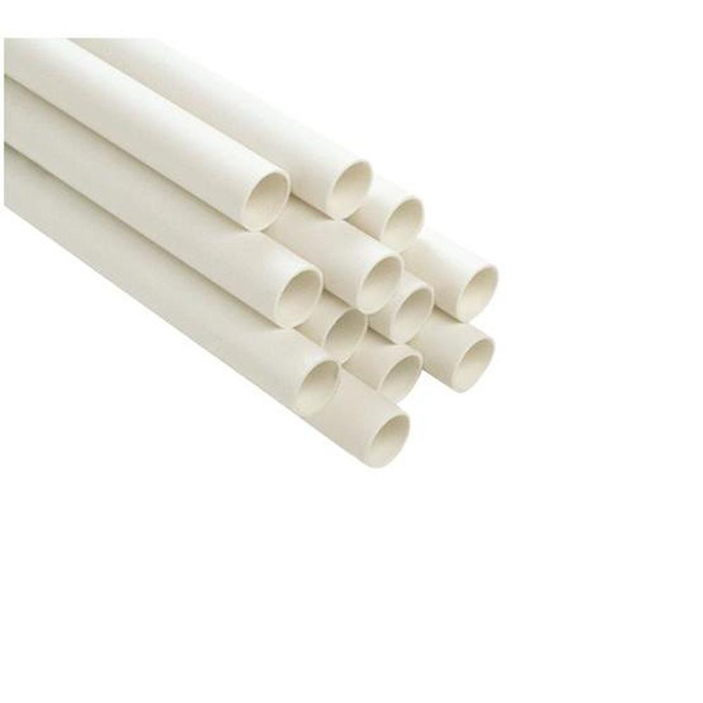 Genova Products 3/4 in. x 10 ft. Plain End PVC Schedule 40 Pressure Pipe