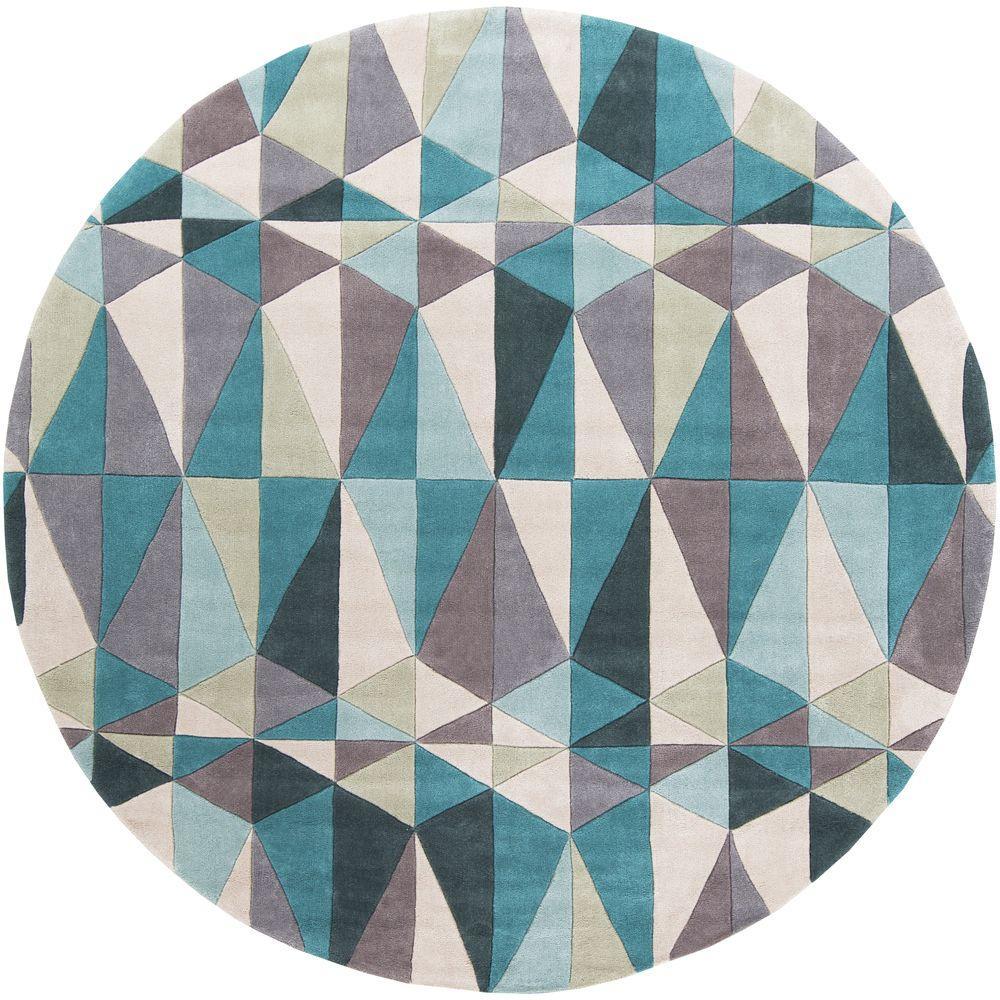 Artistic Weavers Ellos Teal 8 Ft. X 8 Ft. Round Indoor