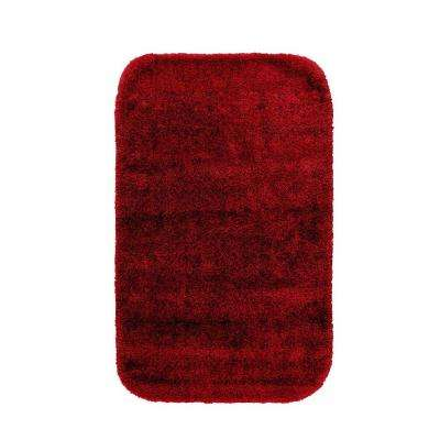 Traditional Chili Pepper Red 24 in. x 40 in. Washable Bathroom Accent Rug