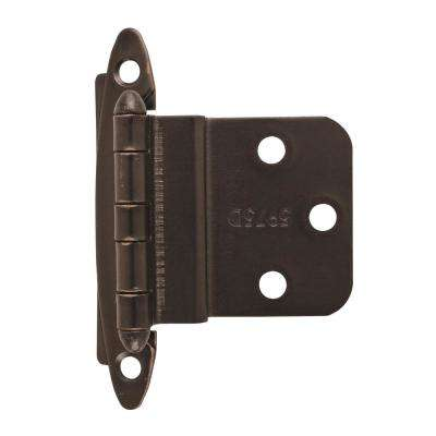 3/8 in. (10 mm) Oil-Rubbed BronzeInset Non Self-Closing, Face Mount Hinge (2-Pack)