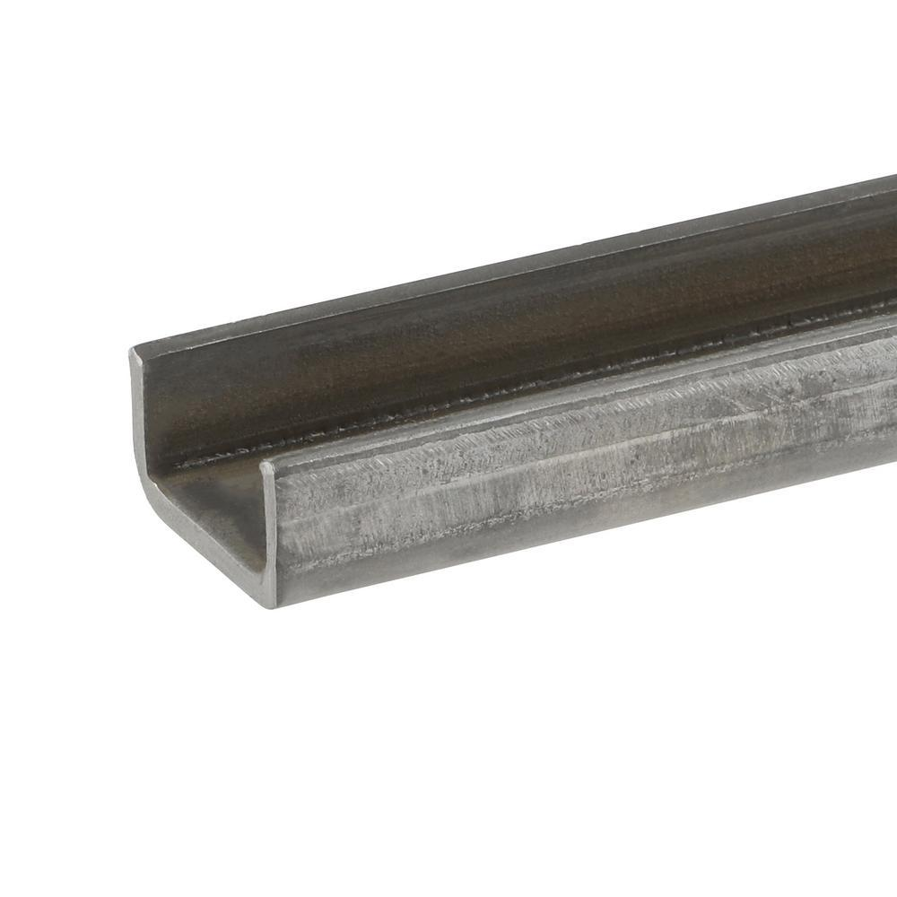 Everbilt 2 in. x 36 in. Plain Steel C-Channel Bar with 1/8 in. Thick