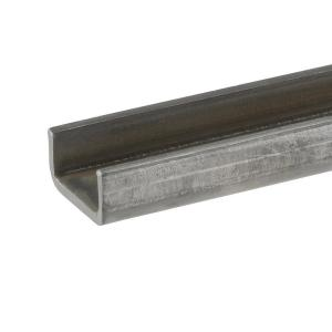 2 in. x 36 in. Plain Steel C-Channel Bar with 1/8 in. Thick