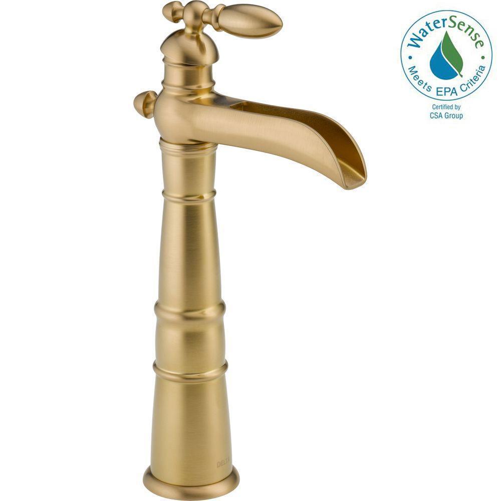 Delta Victorian Single Hole Single Handle Vessel Bathroom Faucet In