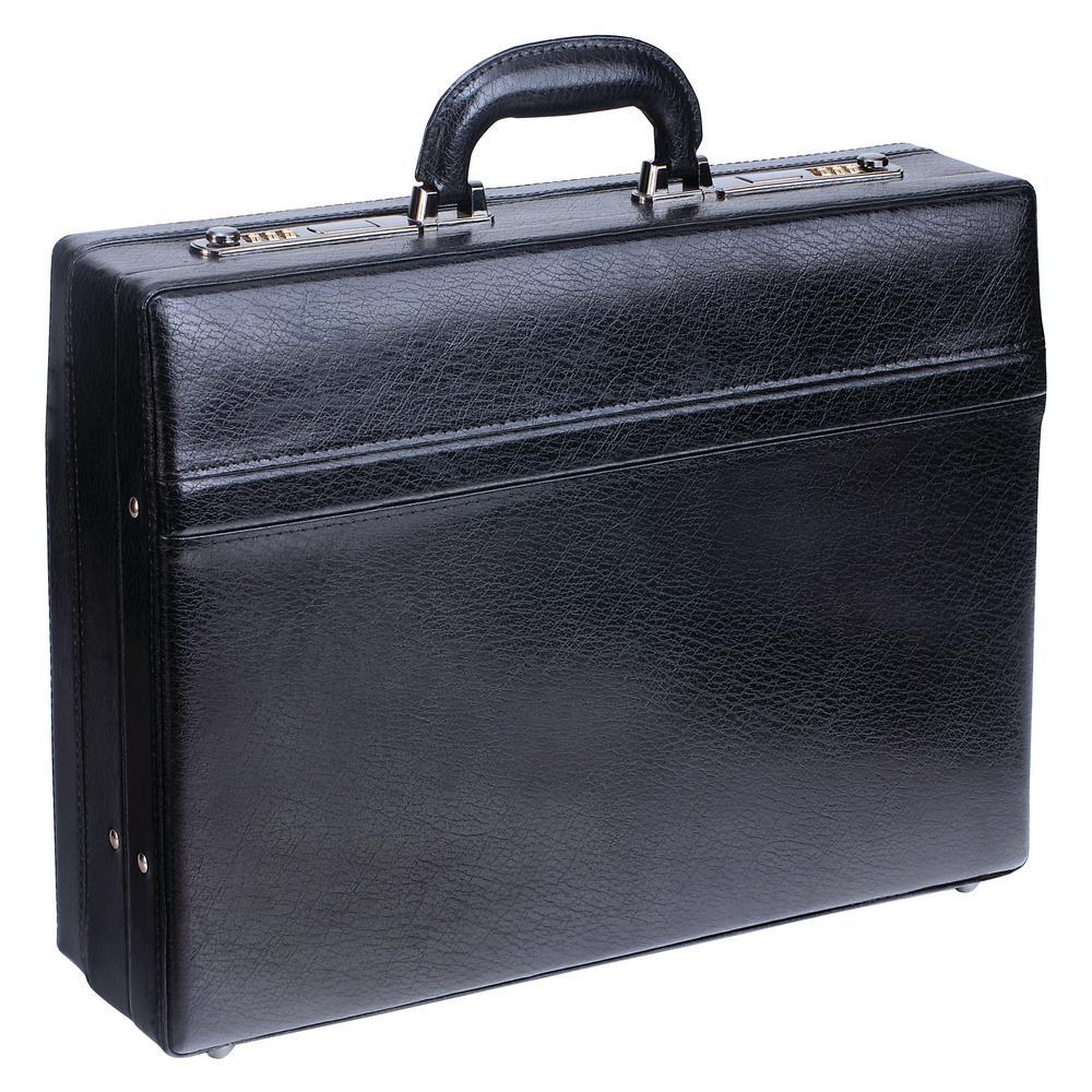 17.5 in. Expandable Black Attache Case