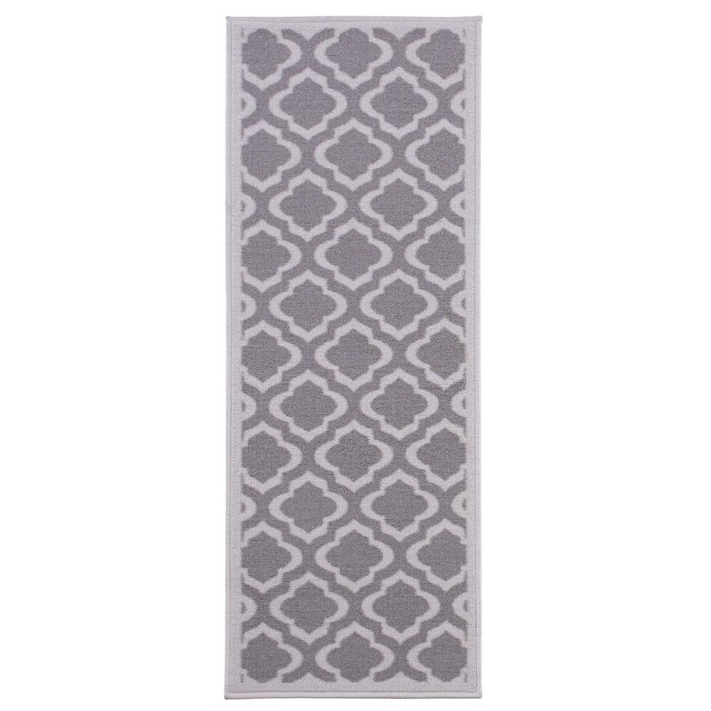 Anne Collection Trellis Design Gray 1 ft. 8 in. x 4