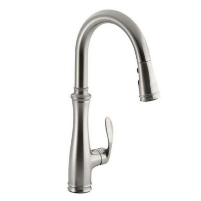 Bellera Single-Handle Pull-Down Sprayer Kitchen Faucet with DockNetik and Sweep Spray in Vibrant Stainless