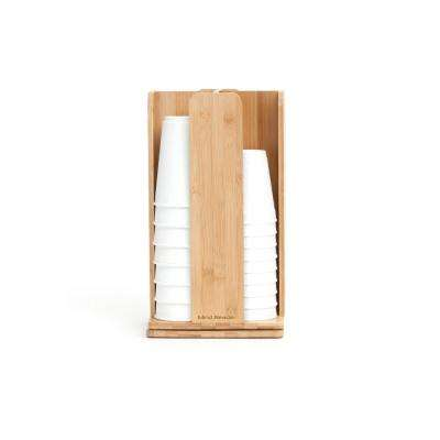 Tawny Spinning Cup and Lid Holder in Bamboo
