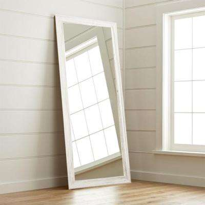New Interior 32 in. x 65 in. Weathered White Floor Mirror