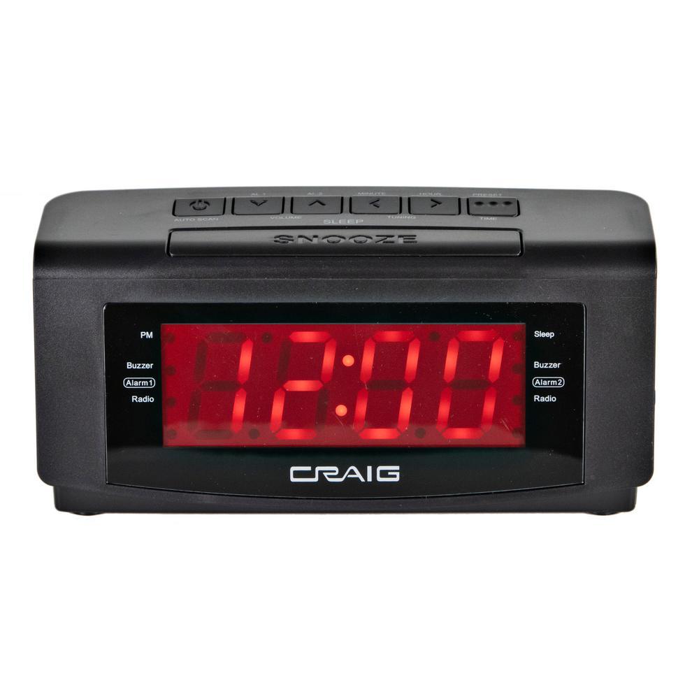 1-1/5 in. Dual Alarm Clock PLL AM/FM Radio