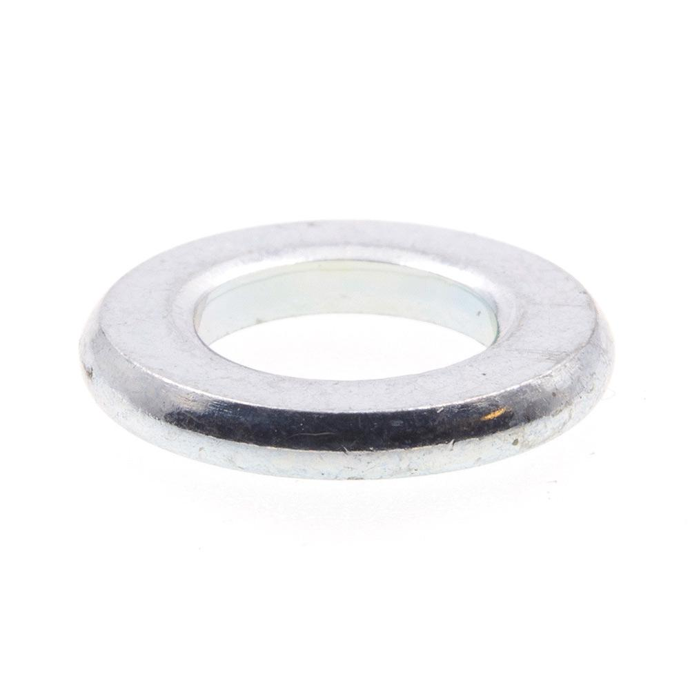 size #8 zinc plated steel flat washers packet of 10
