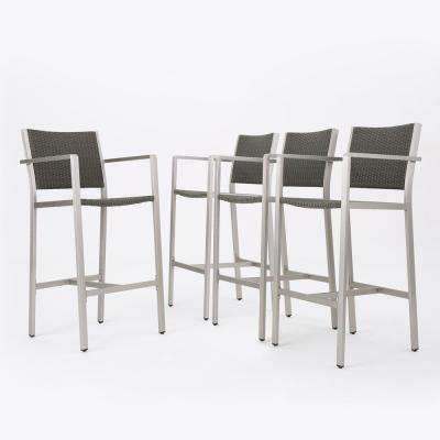 Valentina Wicker Outdoor Bar Stool (4-Pack)