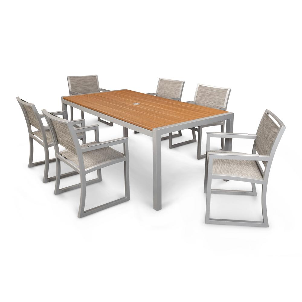 Trex Outdoor Furniture Parsons 7-Piece Plastic Outdoor Patio Dining Set
