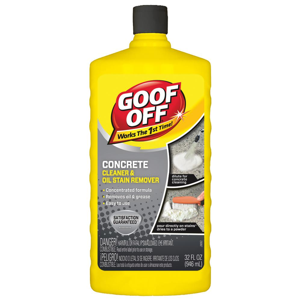 Concrete Stain Remover >> Goof Off 32 Oz Concrete Cleaner Degreaser