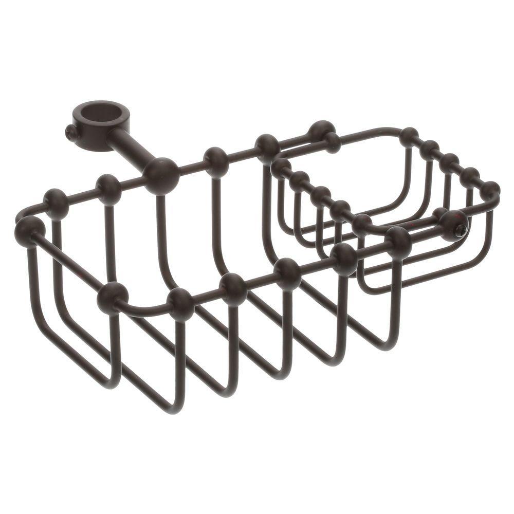 5-5/8 in. x 3-3/4 in. Riser Mount Soap Basket in Oil Rubbed Bronze